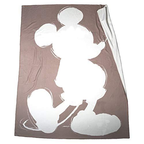 'Mickey' Soft Mouse – Fleece-Decke mit Vintage Disney Motiv – hochwertige Kuscheldecke – 160x200cm – 840 smoke – von 'zoeppritz since 1828'