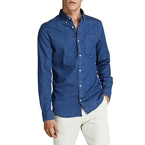 Jack & Jones JPRBLAPERFECT Shirt L/S Noos Camisa, Denim/Fit: Slim Fit, L para Hombre