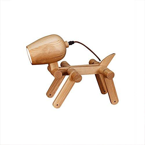 Ganeep eenvoudige creatieve puppy tafellamp opvouwbare originele houten verlichting Scandinavisch Europa studie lamp slaapkamer hoofdeinde lamp instelbare buiten modellering design