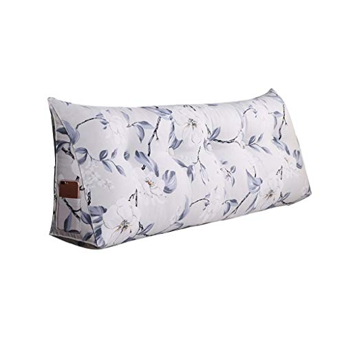 Home Simple Bed Stirnband Double Back Sofa Erker Freizeit Kopfstütze, abnehmbar und waschbar, Multi-Size-Dreieck-Rückenlehne, weicheren Stoffen (Color : A, Size : 90×20×50cm)
