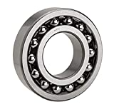 NTN Bearing 1208 Double Row Self-Aligning Radial Ball Bearing, Normal Clearance, Standard Cage, 40 mm Bore ID, 80 mm OD, 18 mm Width, Open