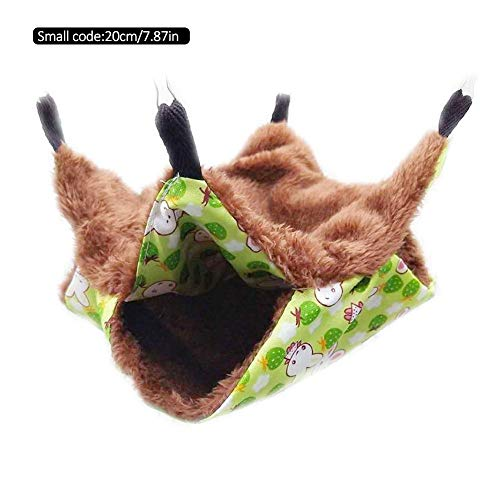 cypressen Nagetier Hängematte für Ratten, Hamster, Chinchillas und Eichhörnchen, Hängematte Käfig Hängendes Bett Nest Gemütlich Warm Plüsch Baumwolle Schlafen Bett Höhle Zubehör