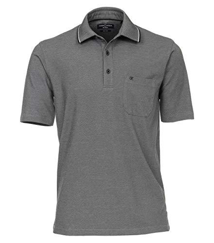 CASAMODA Herren Polo-Shirt unifarben Brusttasche, Mittelgrau, XXL