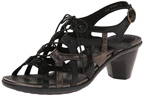 Aravon Women's Miranda AR Dress Sandal, Black, 9.5 2A US
