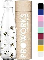 Proworks Bouteille d'eau Isotherme, sans BPA, Gourde INOX Reutilisable pour Maintien Chaud de 12 Heures & du Froid...