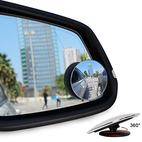 ankier Toter-Winkel-Spiegel, Runde Form, Weitwinkel-Autospiegel, zum Aufkleben auf den Seitenspiegel (2Stück)