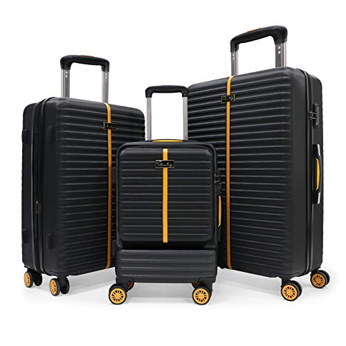 Hartschale Trolley Koffer Rollkoffer Reisekoffer Zwillingsrollen Kofferset mit Schwenkrollen & TSA Schloß