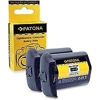 2x Power Batería LP-E4 / LP-E4N Para Canon EOS 1D C, 1D Mark III, 1D Mark IV, 1DX, 1Ds Mark III (Para 1DX Sin indicación de tiempo restante)