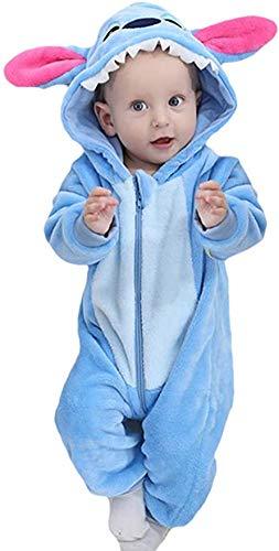EOZY - Set di pigiama per bambini, a forma di animale Stitch blu 0-3 Mesi