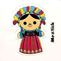Mextick ステッカー メキシコ民芸品の人形デザイン No.2 防水加工