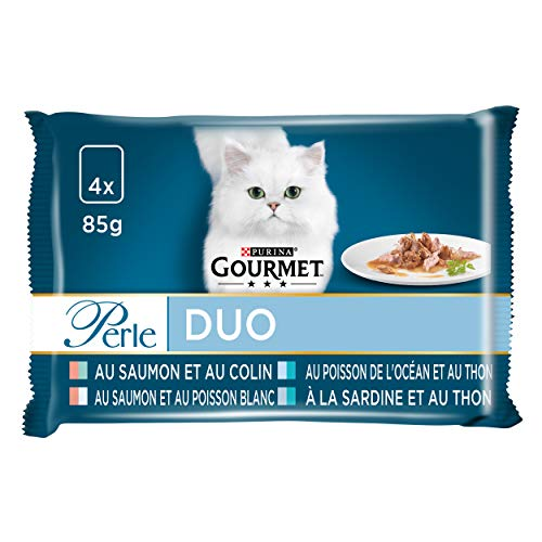 Purina Gourmet Ptée pour Chat aux Poissons, Les 48 Sachets, 4 x 85g (Lot de 12)