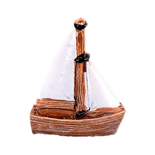 Namgiy Décoration de Noël pour décoration de jardin ou d'extérieur, Wooden Sailboat, 3.4*3.8cm