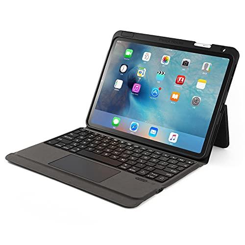 ByDiffer Funda Teclado Compatible con iPad Pro 2021 2020 2018 de 11 Pulgadas, Air 4 con Panel táctil y 2 Tipos de Soporte para lápiz Apple