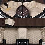 MZLJL Auto Fußmatten, Leder Auto-Fußmatten für BMW 3er E30_E36_E46_E90_E91_E92_E93_F30 2000-2018 Benutzerdefinierte Fuß Automobil Teppich Abdeckung Links Antrieb, Beige