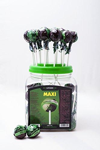 Euphoria Cannabis Cola Lollipops (25 g x 60 Stück) | Kugel Lutscher - Lolly mit Hanf und Cola Geschmack