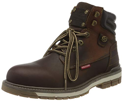 Dockers by Gerli Herren 43LU010 Combat Boots, Braun (Schoko 360), 45 EU