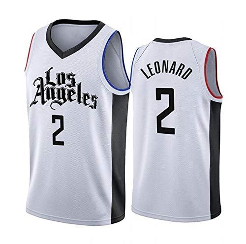 Camisetas para Hombre, NBA Jersey Clippers Kawhi Leonard # 2 Chaleco Sin Mangas para Hombre Camiseta De Baloncesto Cómodo/Ligero/Transpirable Unisex Uniforme De Fan,XL