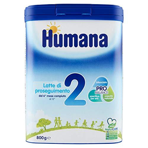 Latte Humana 800 gr di proseguimento in polvere dai 6 mesi Numero 2 Pro Balance
