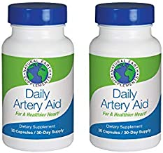 Daily Artery Aid Supplement for Heart Health Support, addresses Longevity & Health Issues Like Poor Circulation & Targets clogged Arteries. Helps Remove toxins & Supports Clean Supple Arteries (2)