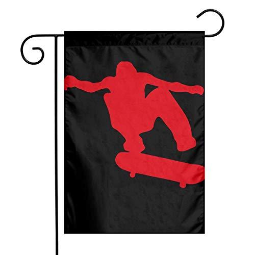 N/A Urlaubsdekoration,Haus Banner,Yard Flags,Dekorative Fahne,Skateboard Skater Premium Qualität Gartenflagge Indoor Use Outdoor Dekoration Alle Jahreszeiten 32X48CM