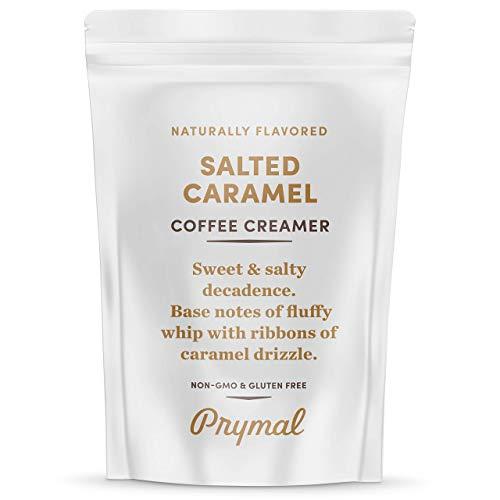 PRYMAL Salted Caramel Coffee Creamer - Keto, Non Dairy, Sugar Free - Natural, Non Refrigerated Powder with MCT - 11.3oz Bag
