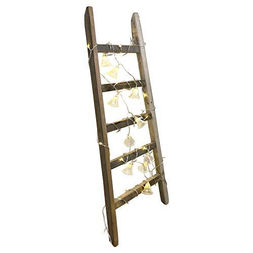 Mojawo Pflanzentreppe Blumentreppe Pflanzenständer Blumenregal Deko Leiter Antiklook 100 cm Holzleiter Handtuchhalter Dekoleiter