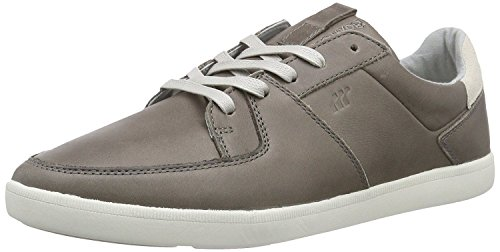 Boxfresh Cladd Grey White Mens Leather Trainers Shoes-11
