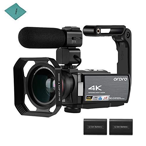 ORDRO HDV-AE8 4K Cámara de Video Digital WiFi Videocámara Grabadora DV 30MP...