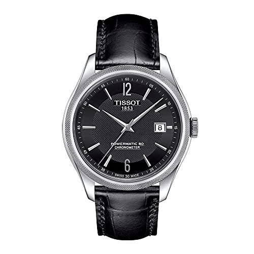 [ティソ] 腕時計 バラード オートマティック COSC パワーマティック80 ブラック文字盤レザー T1084081605700 メンズ 正規輸入品 ブラック