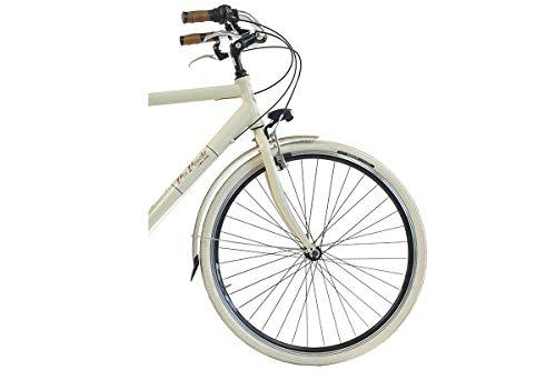 Via Veneto by Canellini Fahrrad Rad Citybike CTB Herren Vintage Retro Via Veneto Alluminium (Beige, 58) - 3