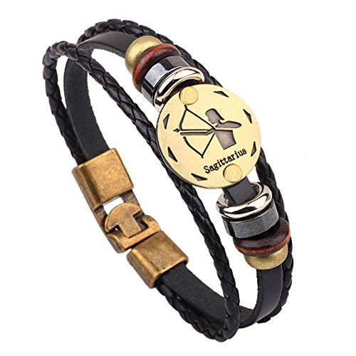 Skyeye Armband Legierungsschnalle mit 12 Konstellationen Armbänder Handkette Armkettchen Armschmuck Kette Damen Armband Schmuck Elegant Armreif Schütze