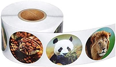 500pcs Zoo Animals Free SALENEW very popular! shipping New cute Stickers Label Adhesive Roll diary paper