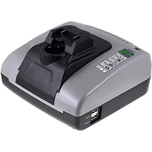 akku-net Akku-Ladegerät mit USB für Werkzeug Hitachi Typ BCL 1015, 10,8V