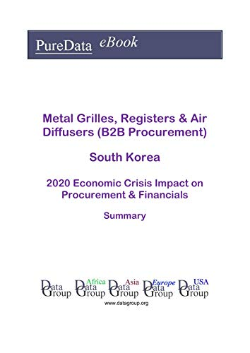 Metal Grilles, Registers & Air Diffusers (B2B Procurement) South Korea Summary: 2020 Economic Crisis Impact on Revenues & Financials (English Edition)