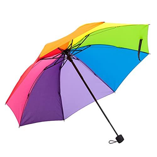 YNLRY Paraguas de viaje compacto Rainbow con mango ergonómico portátil resistente al viento y plegable (color de otros)