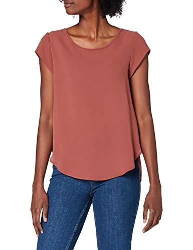 Only Onlsilvery S/s V Neck Lurex Top Jrs Noos Camiseta, Vintage Indigo, 36 para Mujer