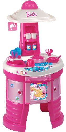 FARO - 2494 - Jeu D'imitation - Cuisine avec 21 Accessoires - Barbie - 107 Cm