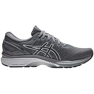 ASICS Men's Gel-Kayano 27 Running Shoes, 10.5M, Carrier Grey/French Blue