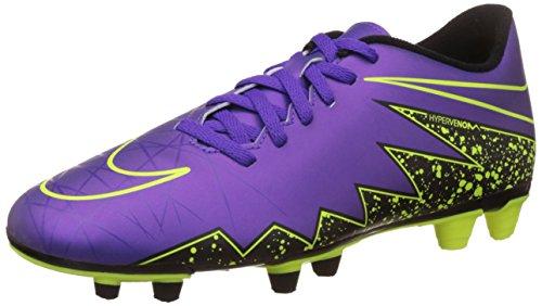New Nike Men's Hypervenom Phade II FG Soccer Cleat Grape/Volt 7.5