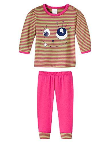 Schiesser Baby - Mädchen Zweiteiliger Schlafanzug 146181, Gr. 62, Rot (Pink 504)