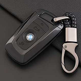 ontto Key Fob Cover Car Key Shell Silicone case Keychain Remote Key Protector Fit for BMW 1 3 4 5 6 7 Series X3 X4 M2 M3 M4 M5 M6 Black