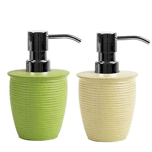 ZRL Dispensador de loción dispensador de jabón con bomba de plástico ABS, botella de bomba de resina para hotel o familia, baño, cocina exquisita bomba (color: B1+G)