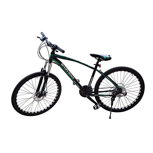 PREMIUMA Marvbike 21 Speed Mens Mountain Bike 24 Inches Wheels Bicycle Front Suspension MTB, Green