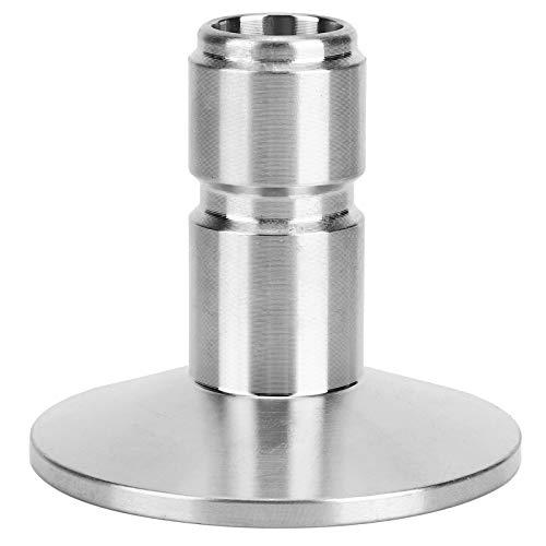 Huakii Brauanschluss, Homebrew-Adapter, praktische Korrosionswiderstandsfähigkeit aus Edelstahl 304 für Zubehör für Heimbrauanlagen Craft Brewing Markets Silver