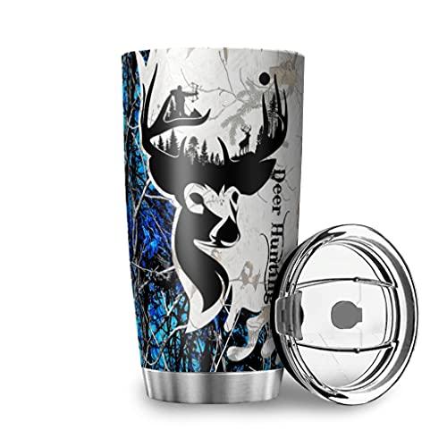 Tobgreatey Vaso de café aislado al vacío, de acero inoxidable, con tapa abatible, diseño vintage, 600 ml, color blanco