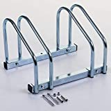 Marko Storage Solutions 2 Slot Bike Cycle Bicycle Stand Floor Wall Mount Galvanized Parking Storage Rack