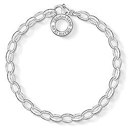 Thomas Sabo Damen Charm-Armband Classic 925 Sterling Silber X0031-001-12