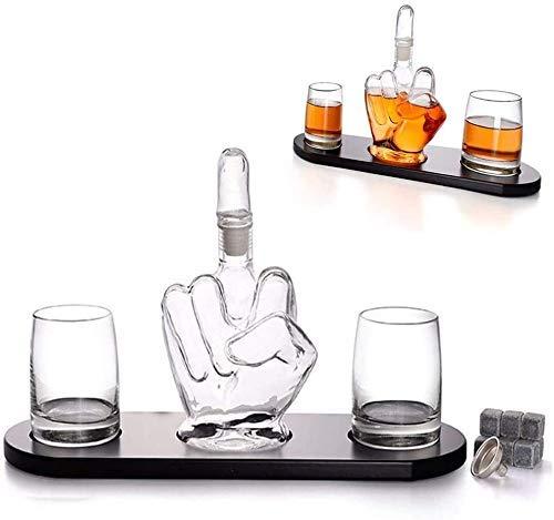 XBR Elegante decantador de Whisky de béisbol, Juego de decantador de licores y 4 Vasos de Whisky de béisbol, para escocés, Bourbon o Vino