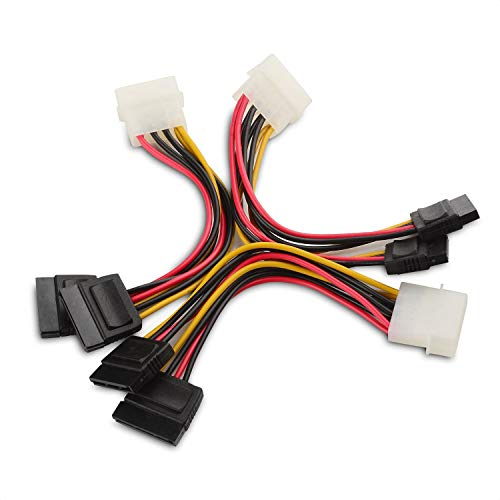 Cable Matters 3er-Pack 4 Pin Molex zu Dual Sata StromKabel Adapter- 1,8m