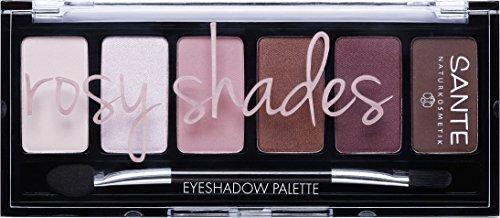 SANTE Naturkosmetik Eyeshadow Palette Rosy Shades, 6 aufeinander abgestimmte Rosé-Nuancen, Hochpigmentierte Textur, 6g